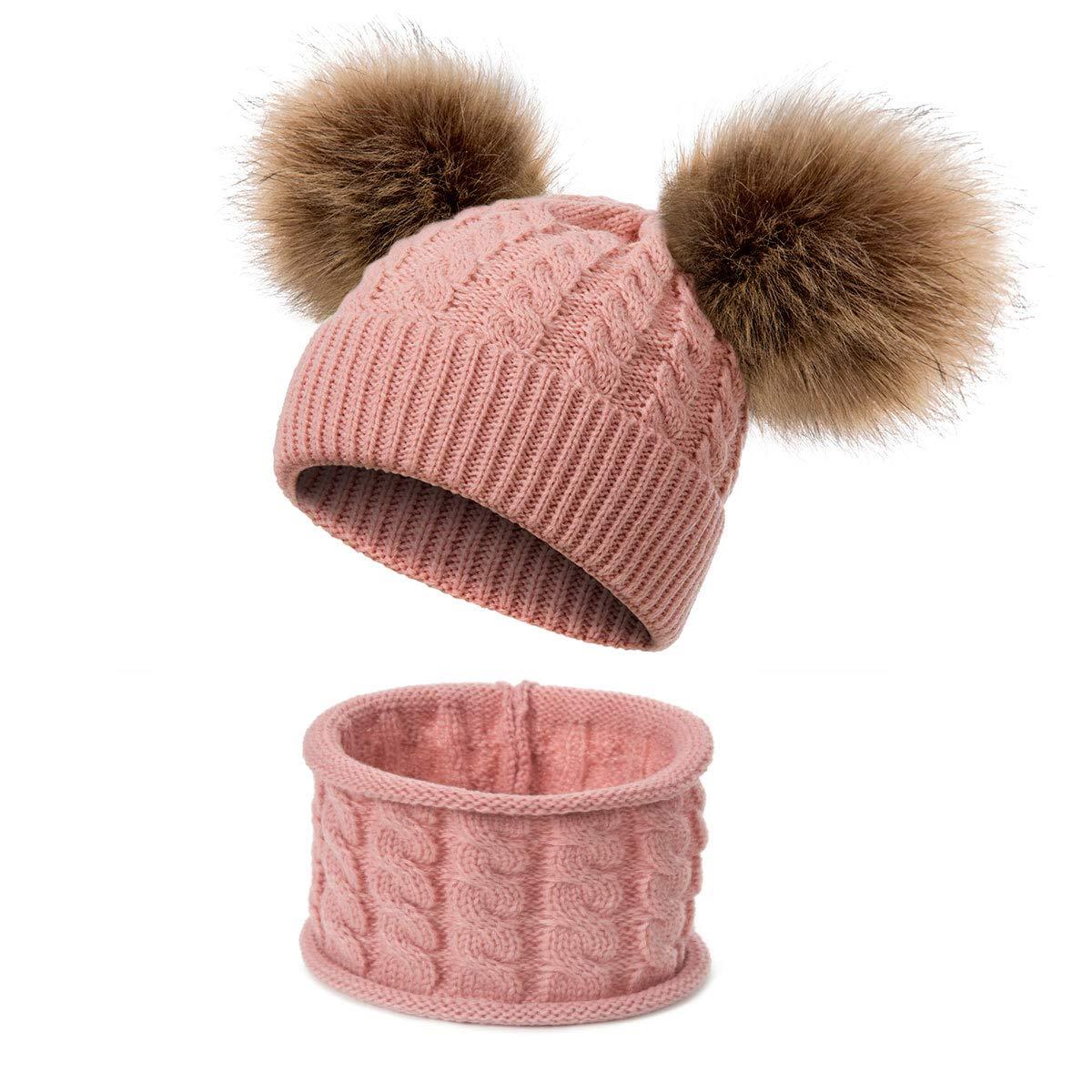 Sharlife Plusieurs couleurs unisexe enfants hiver chapeau hiver /écharpe bonnet enfants tricot/és chapeau bonnet chapeau pour les enfants