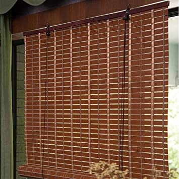 Largeur 60//80//100//120//140//160 cm Lqqdp Store Jour Nuit Store Occultant Stores de Fen/être de Style Japonais Stores Ext/érieurs Rustiques en Bambou pour Pi/èce de Gazebo de Balcon//Traction Lat/érale
