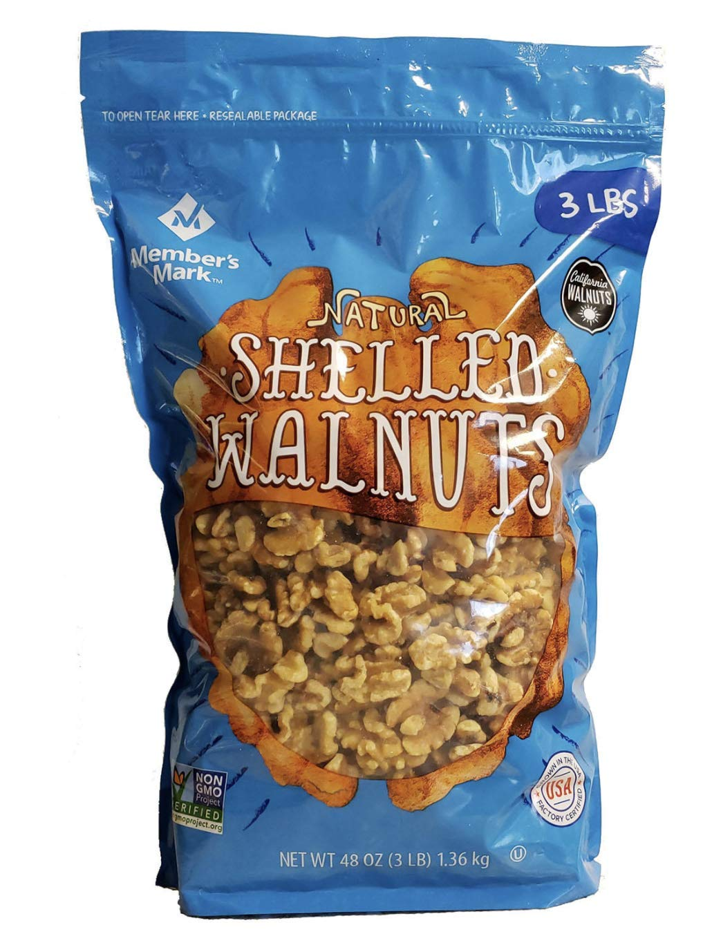 An Item Of Member's Mark Natural Shelled Walnuts (3 Lbs.) Pack Of 1 - Bulk Disc