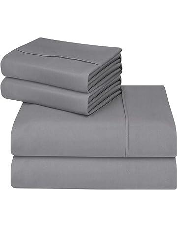 Utopia Bedding - Juego Sábanas de Cama - Microfibra Cepillada - (Cama 150, Gris