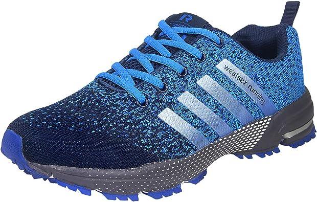 Wealsex Zapatos para Correr En Montaña Asfalto Aire Libre Deportes Zapatillas De Running para Hombre: Amazon.es: Zapatos y complementos