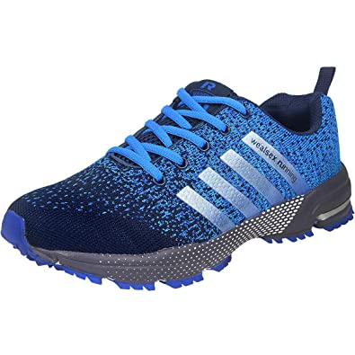 e692af7ba7b998 wealsex Chaussures De Course Basket Running Compétition Sport Trail  Entraînement Homme Femme Fitness Tennis Sneakers Bleu