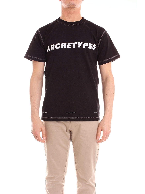 M UNITED STANDARD Luxury mode Homme 18WUSTS09noir Noir T-Shirt   Saison Outlet
