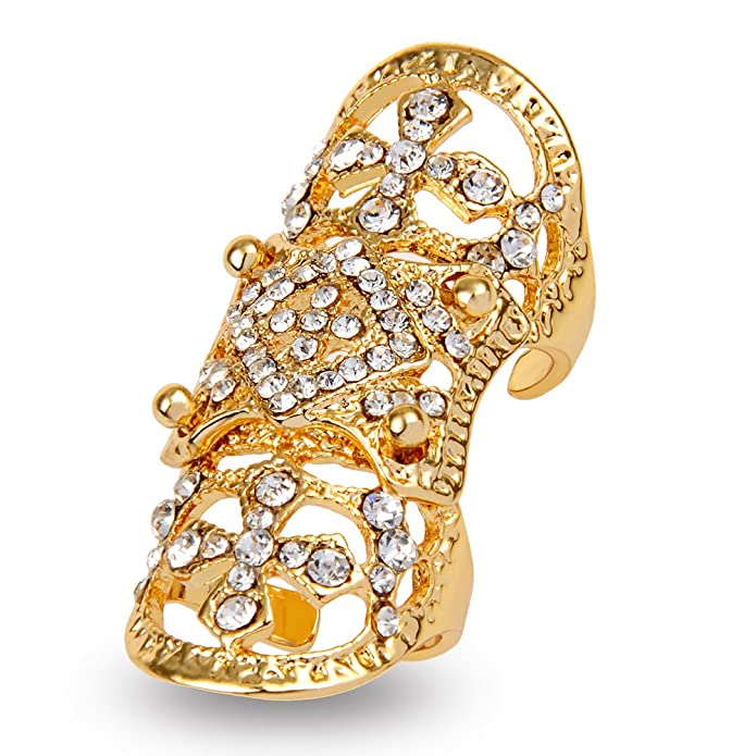 Amazon.com: EVBEA dos dedos anillo único de Big funda para ...
