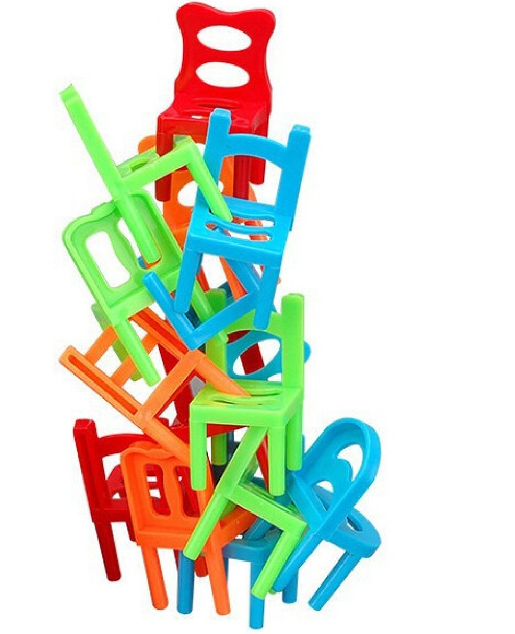 1set=18PCS/lot Family Board Game Children Educational Toy Balance Stacking Chairs Chair Stool Office Game by Yan Toy Gift (Image #1)