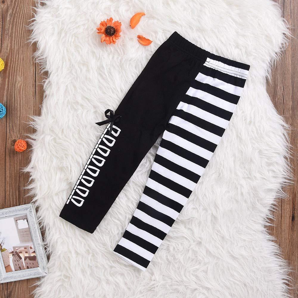 Tronet Kids Boys Girls Winter Panda Sequins Tops T-Shirt+Striped Bow Pants Children Clothes Set Yellow