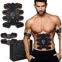 8 Pads Abs Stimulator Buikspiertrainer - USB oplaadbaar - EMS Sixpack trainer voor mannen & vrouwen om thuis te trainen…