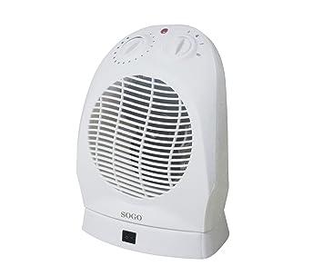 Sogo CAL-SS-18320 Termoventilador Turbo con oscilación, 2000 W, Otro, Blanco: Amazon.es: Hogar