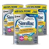 Similac 雅培 Pro-Advance Non-GMO 婴儿含铁奶粉 含2'-FL HMO (适用年龄:0-12个月) 3罐装(3 * 36盎司(1.02kg)