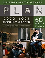 5 Year Monthly Planner 2020-2024: Five Year