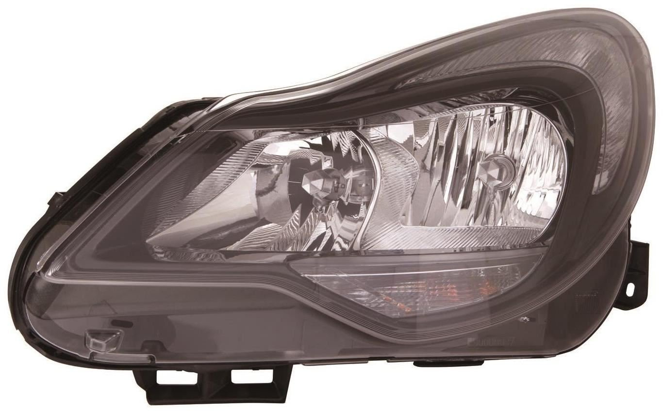 aftermarket Corsa D 2011-2015 Black Front Headlight Headlamp N/S Passenger Left Ultimate Styling