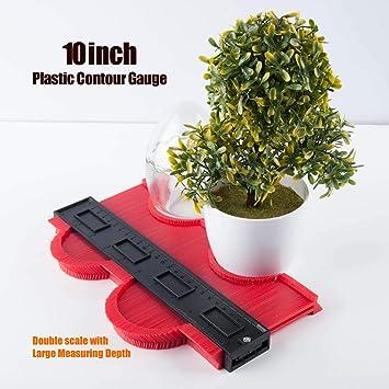 Shape Duplicator for Precise Measurement Tiling Laminate Wood Marking 10 inch Profile Gauge with large copy depth GIEMSON Plastic Contour Gauge