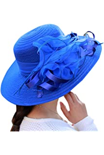 Zonsaoja La Mujer del Kentucky Derby Sombrero Vestido Elegante Iglesia  Iglesia Sol Editor c6d0904beec