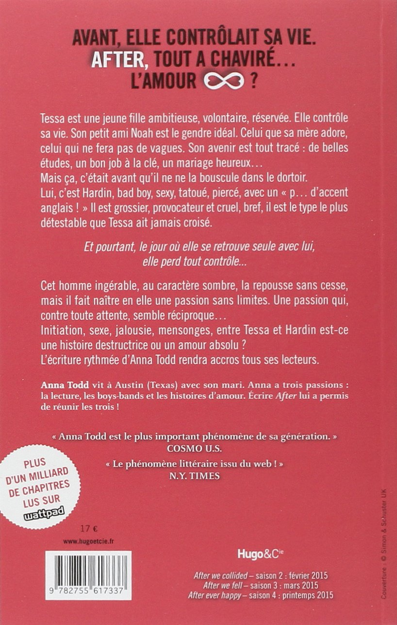 After Saison 1 French Edition Anna Todd Hugo