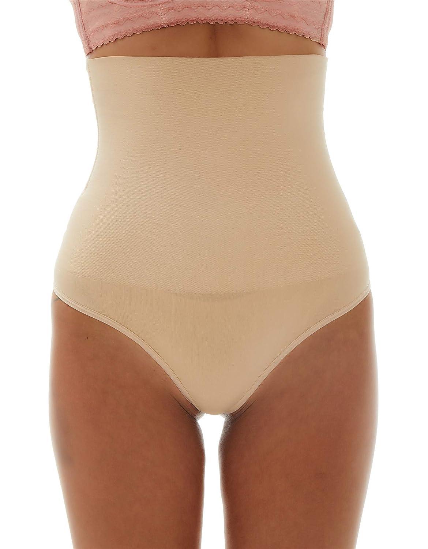 Franato Damen Shapewear Figurformende Miederslips mit Bauch-Weg-Effekt Miederhose