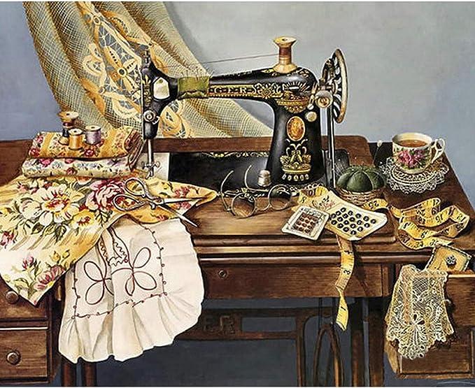 Bduco - Máquina de coser 5D bricolaje diamante redondo pintura ...
