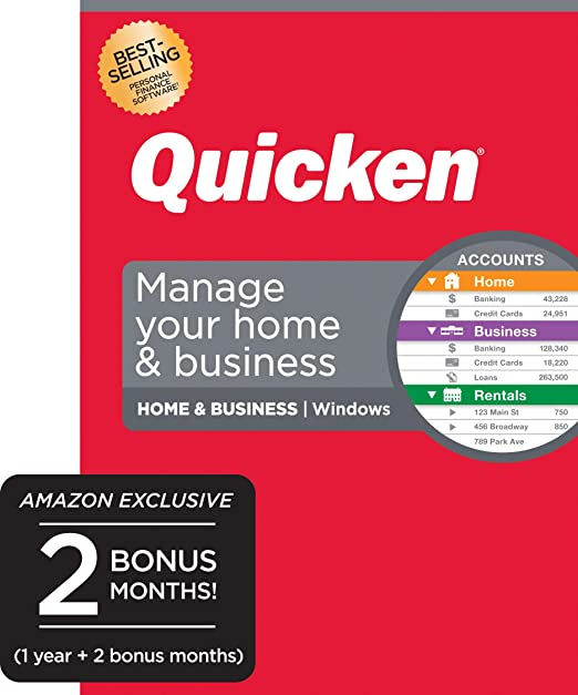 Quicken Home Business Rental Property 2020.Amazon Com Quicken Home Business Track Personal And