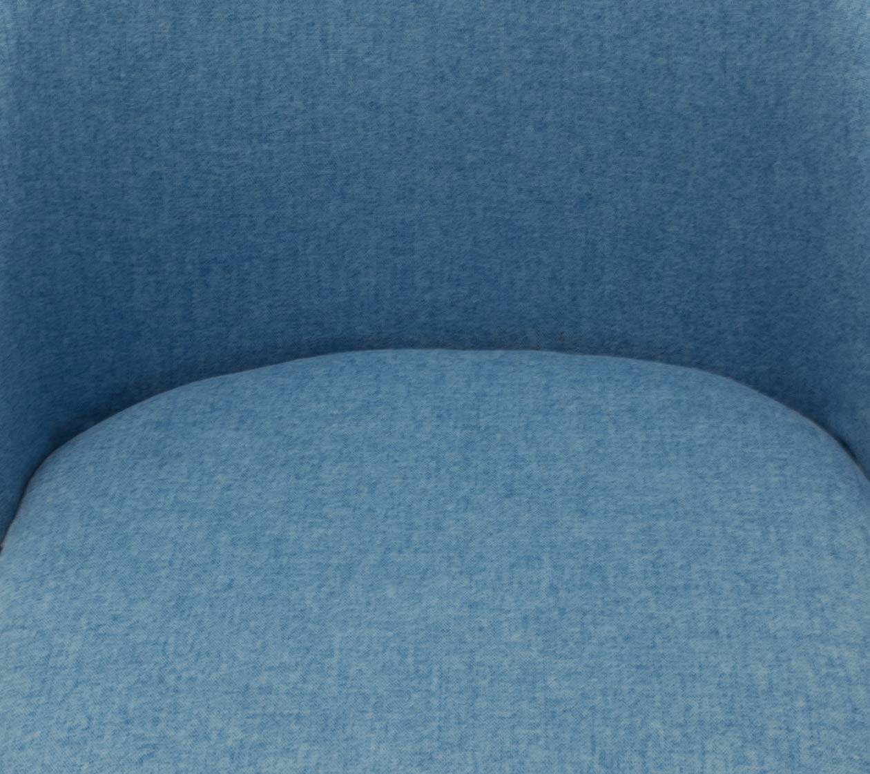 P2 A77007 Set of 2 Bar Stools Blue Fabric Seat /& Metal Legs