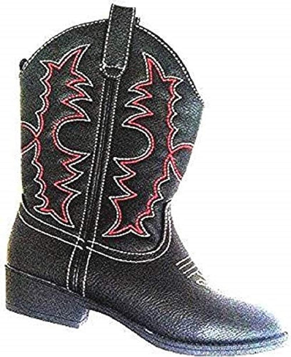 7b9ae8a4504 Amazon.com: Healthtex Cowboy Boots Toddler Boys Girls Size 9M Black ...