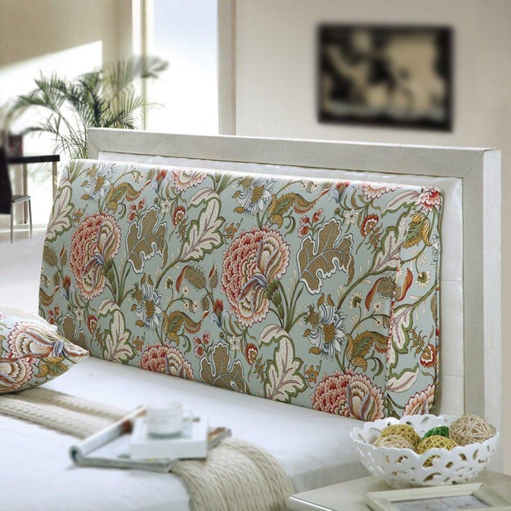 Curved backrest / double bed backrest / washable headrest / triangular cushion / bedside soft cushion ( Size : 1805015cm )