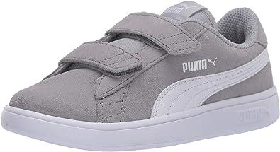 Amazon.com | PUMA Unisex-Kid's Smash V2 Velcro Sneaker, High ...