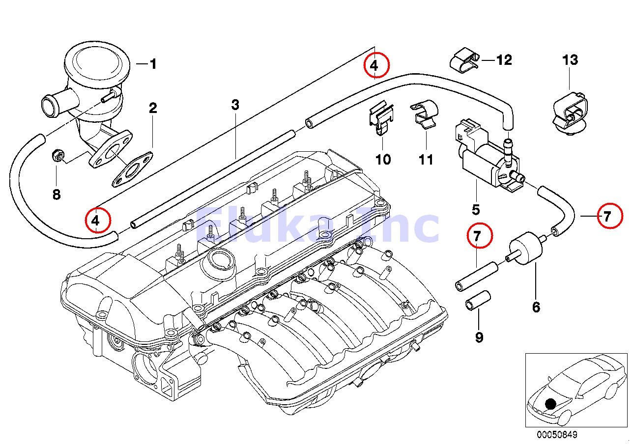 amazon com bmw genuine turbo charger vacuum hose 3 5 x 7 5 mm rh amazon com 06 BMW 750Li Exhaust System 2010 BMW 750Li Custom