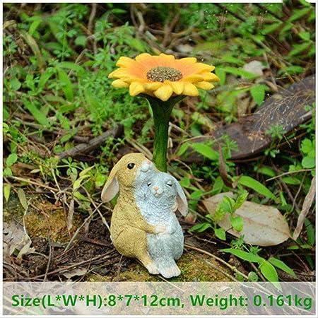 KWOSJYAL 1 Piezas Lindas Decoraciones De Animales para El Hogar Pequeñas Figuras De Conejo Adornos De Mesa En Miniatura Artesanías De Resina De Jardín De Hadas D: Amazon.es: Hogar