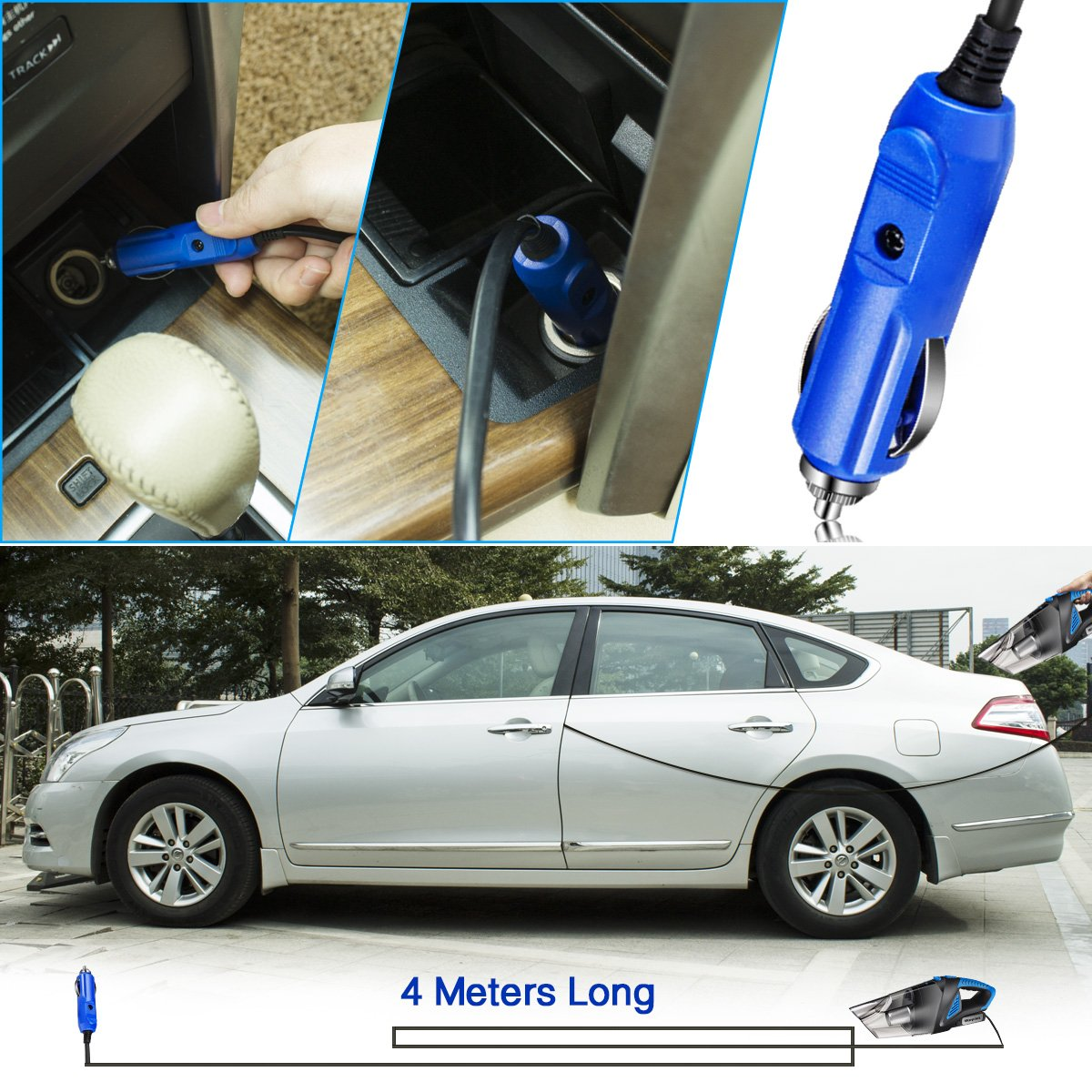 Car Vacuum Cleaner,Morpilot 5500Pa DC 12V 120W Portable Handheld Auto Vacuum Cleaner Auto Lightweight Cleaner Dustbuster Hand Vac with Stainless Steel HEPA Filter