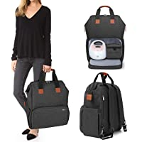 Luxja Breast Pump Bag with Compartments for Cooler Bag and Laptop, Breast Pump Backpack with 2 Options for Wearing (Fits…