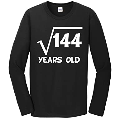 Really Awesome Shirts 12th Birthday Shirt Square Root 12 Years Old Math Long Sleeve T