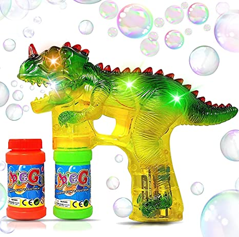 Ideal Gift High Quality Brand New T-Rex Bubble Gun LED Bulb Not Replaceable