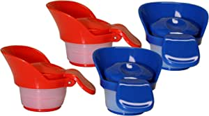 Jokari 2 Count Push-and-Pour Milk Spouts 4-Count Red, Blue