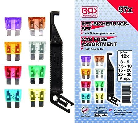 MINI BGS 8109 121 pi/èces Assortiment de fusibles