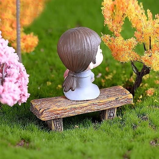 MEIBY Banco de Jardín de Hadas en Miniatura para Decoración del hogar, 3 Piezas: Amazon.es: Jardín