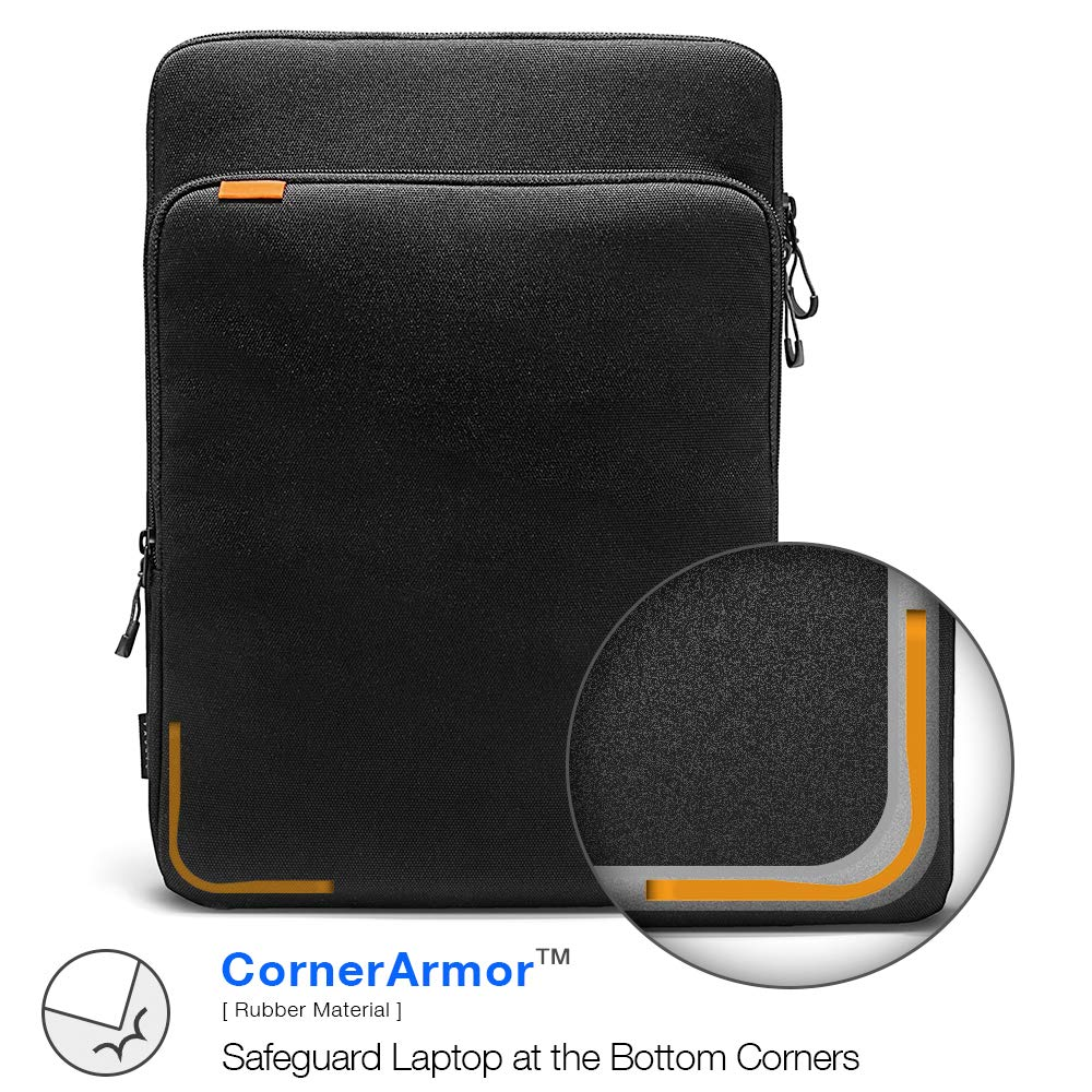 tomtoc 360 Protection Laptop Sleeve Designed for 15 Inch New MacBook Pro with USB-C A1707 A1990, with Handle and Organized Pocket for MacBook Accessories, Cordura Fiber by tomtoc (Image #3)