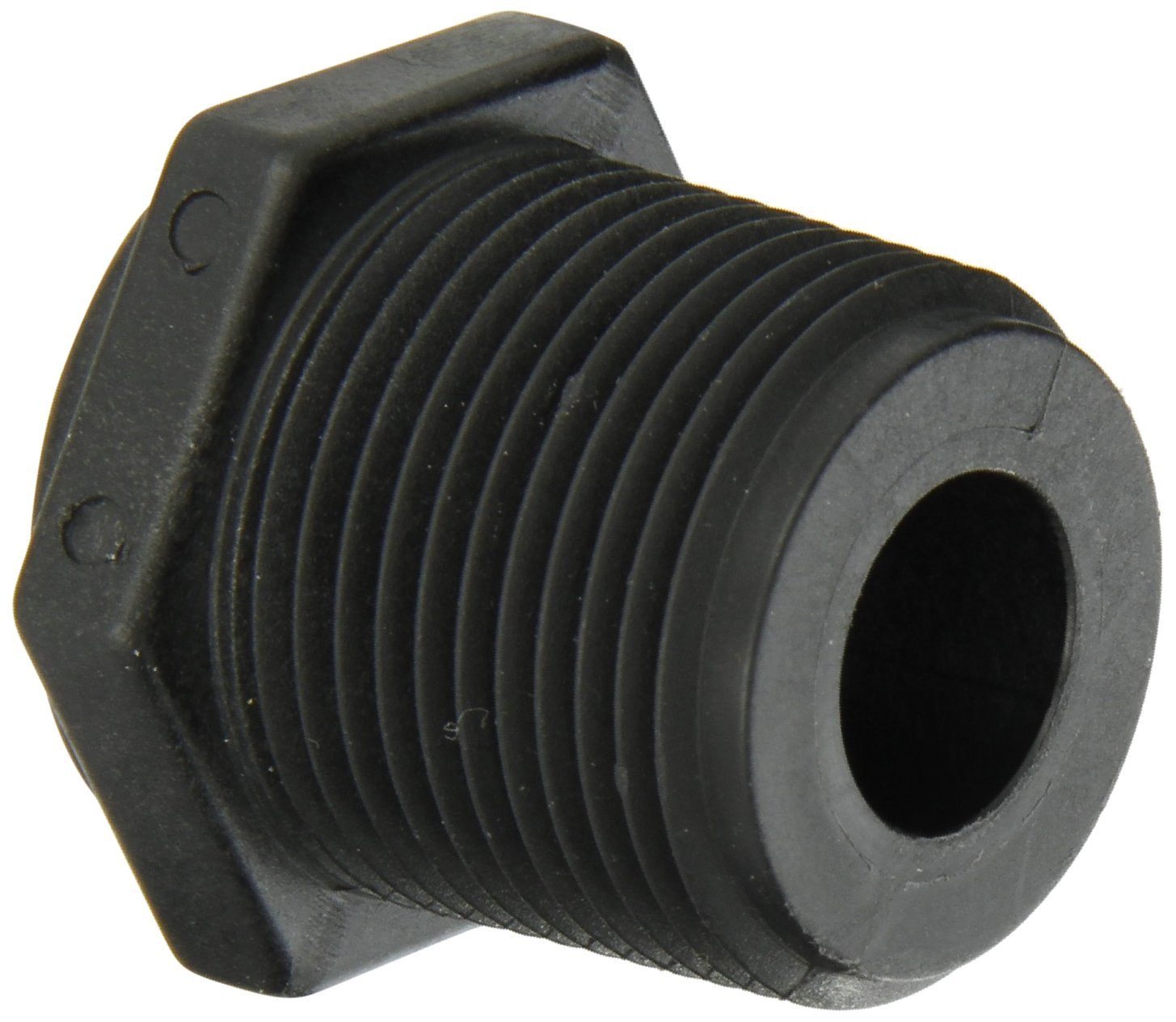 Banjo RB100-050 Polypropylene Pipe Fitting Schedule 80 1 NPT Male x 1//2 NPT Female Reducing Bushing