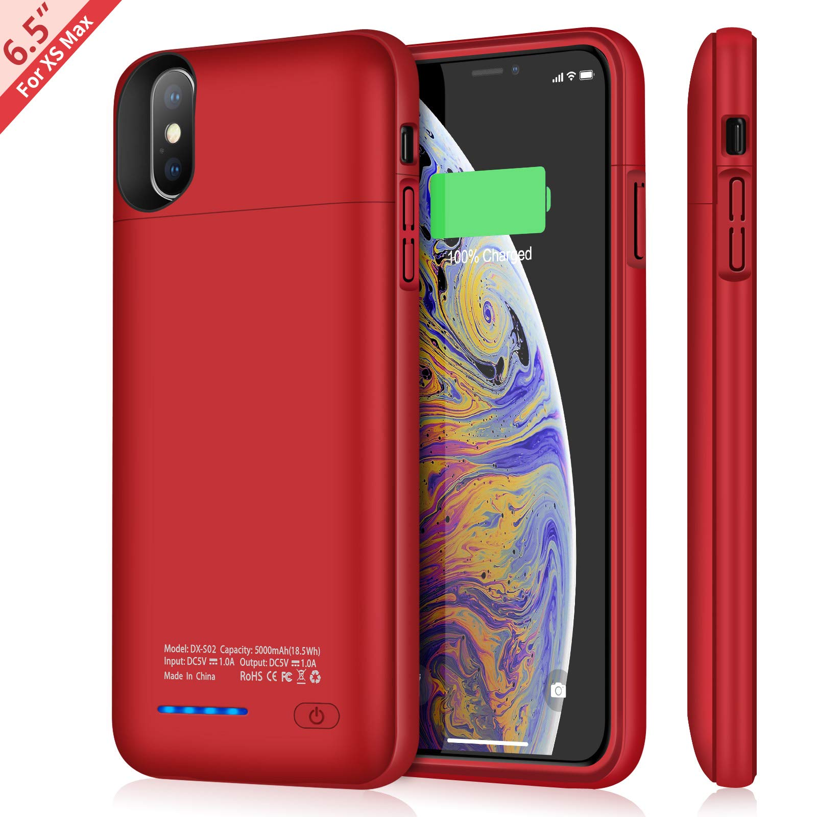 Funda Con Bateria de 5000mah para Apple Iphone Xs Max TAYUZH [7PHY1NTJ]