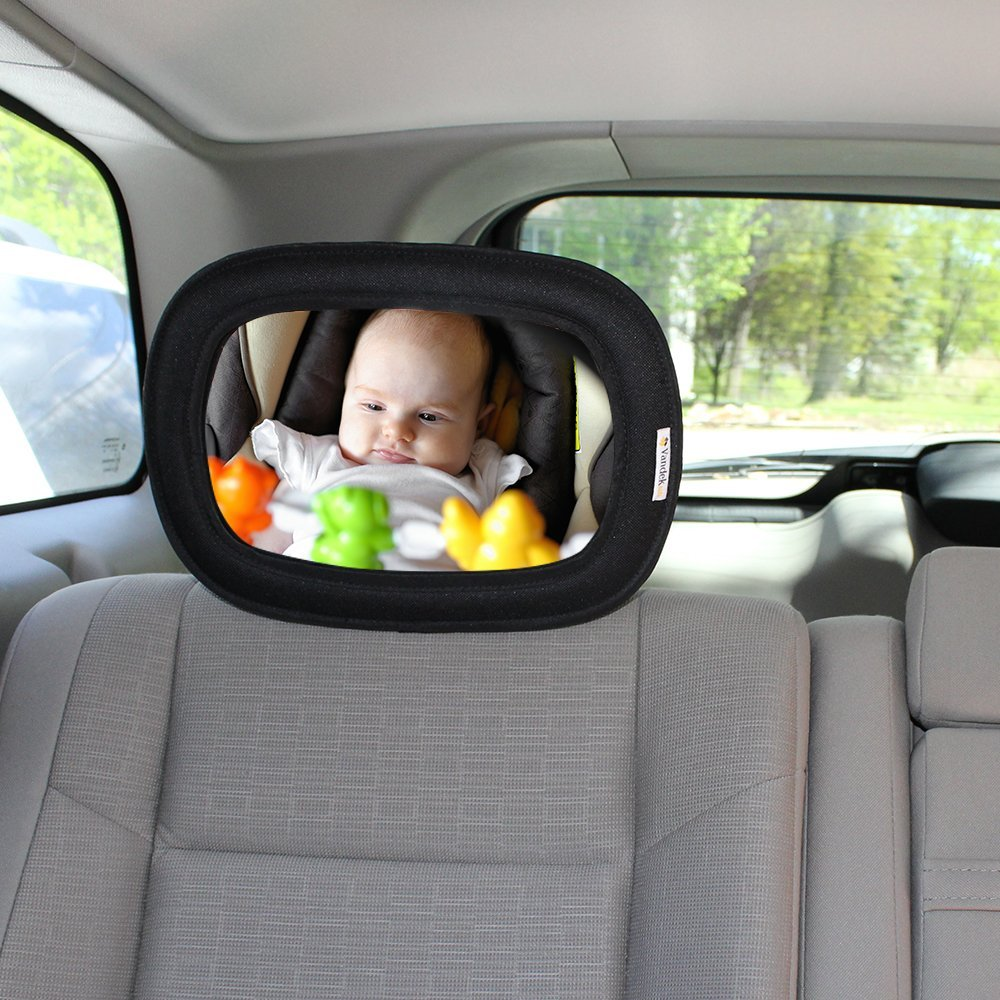 VANDEK Baby Back Seat Mirror for Car - Rear View Baby Mirror - Adjustable Shatter Proof Glass Safety Mirror Auto Infant Convex BCM354