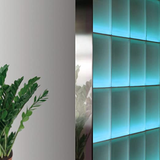Perfil Fin de 8 cm bloques de vidrio de espesor (2,5 m, acero ...