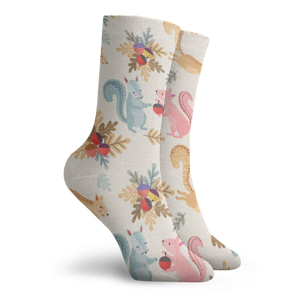 Squirrel Nut Unisex Funny Casual Crew Socks Athletic Socks For Boys Girls Kids Teenagers