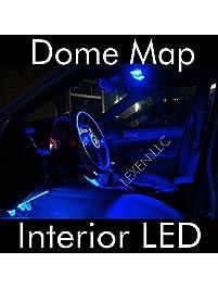 led blue 2x dome map interior light bulb 9 smd circle panel xenon hid lamp