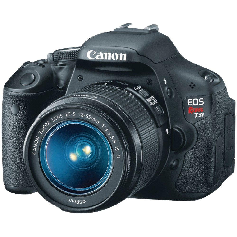 Amazon.com : Canon EOS Rebel T3i Digital SLR Camera with EF-S 18-55mm  f/3.5-5.6 IS Lens (discontinued by manufacturer) : Camera & Photo
