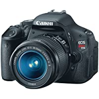 Canon EOS Rebel T3i + EF-S 18-55mm f/3.5-5.6 IS 18MP CMOS 5184 x 3456pixels Black - digital cameras (Auto, Cloudy, Custom modes, Daylight, Flash, Fluorescent, Shade, Tungsten, Landscape, Portrait, Single image, Optical, Battery, SLR Camera Kit)