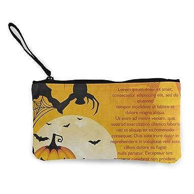 Amazon.com: Monedero de lona para Happy Halloween, bate de ...