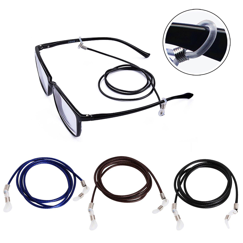 Brillenkette, Fascigirl 3 Pack Brillenkette Robuste Lange Geflochtene Sonnenbrillenhalter Eyewear Strap