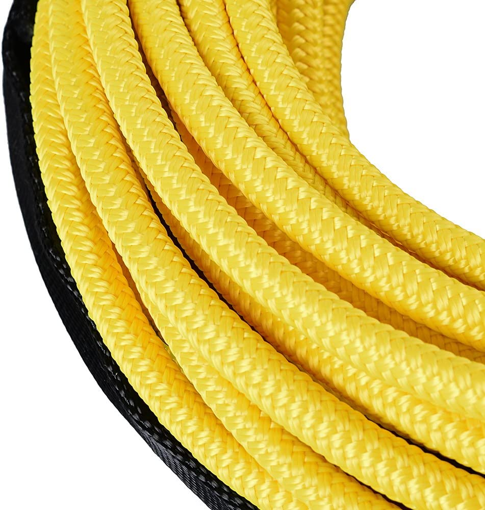 Astra Depot 50ft 1//4 inch Yellow 7000lbs Strong Durable Synthetic 12-Strand Winch Rope Car SUV ATV UTV KFI