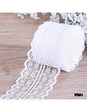 BestMall 1pcs 25 Yards Satin Ribbon Roll 20mm Width Craft Wedding Decor White