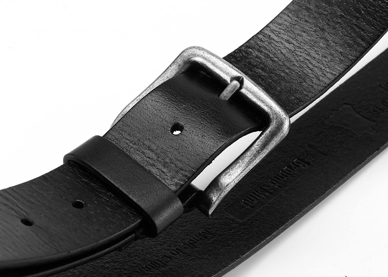 Mens Vintage Full Grain Leather Belt for Jeans 1 1//2 Wide
