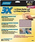 Norton 02620 3X Handy Aluminum-Oxide Sandpaper 100 Grit, 9-Inch x 11-Inch, 3-Pack