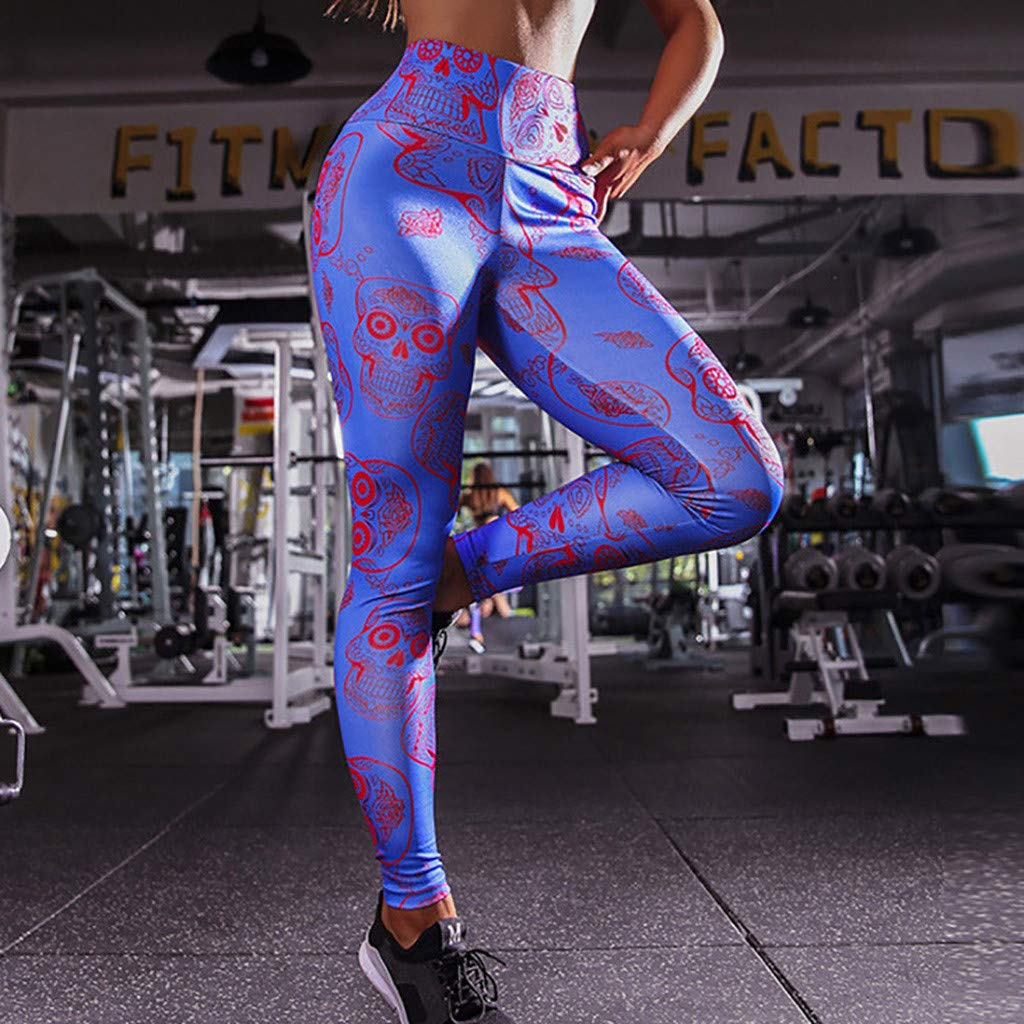 Cintura Media de Yoga Pantalones, YpingLonk Impresión 3D Mallas ...